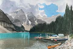 Moraine Lake at the Dock , Michael Kroes