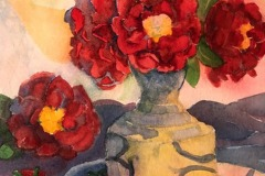 Red Camellias, Rose Sloan