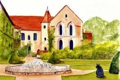 Fontenay Abbey, Wary Cat - Curious Dog, Sara Bostley