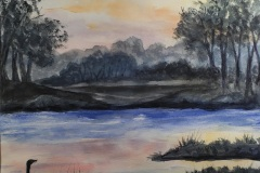 Sunset on the River, Kaye Lochridge