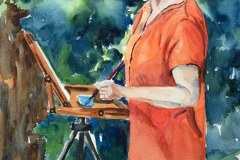 Self Portrait, Out Painting, Diane Pargament