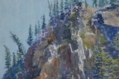Donner Summit Crags at Dawn, Ralph F. Wilson
