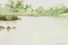 Pond Foggy Morning, Elaine Schaefer Hudson