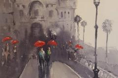 Red Umbrella, Monaco, Liz D'Amelio