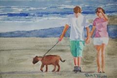 Walking the Dog on Jacksonville Beach, Ralph Wilson